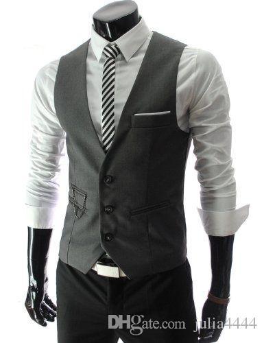 2019 Modest Black Vest Single Breasted Groom Vests British Style Men's Suit Vests Slim Fit Men's Dress Vest Wedding Waistcoat Custom Made