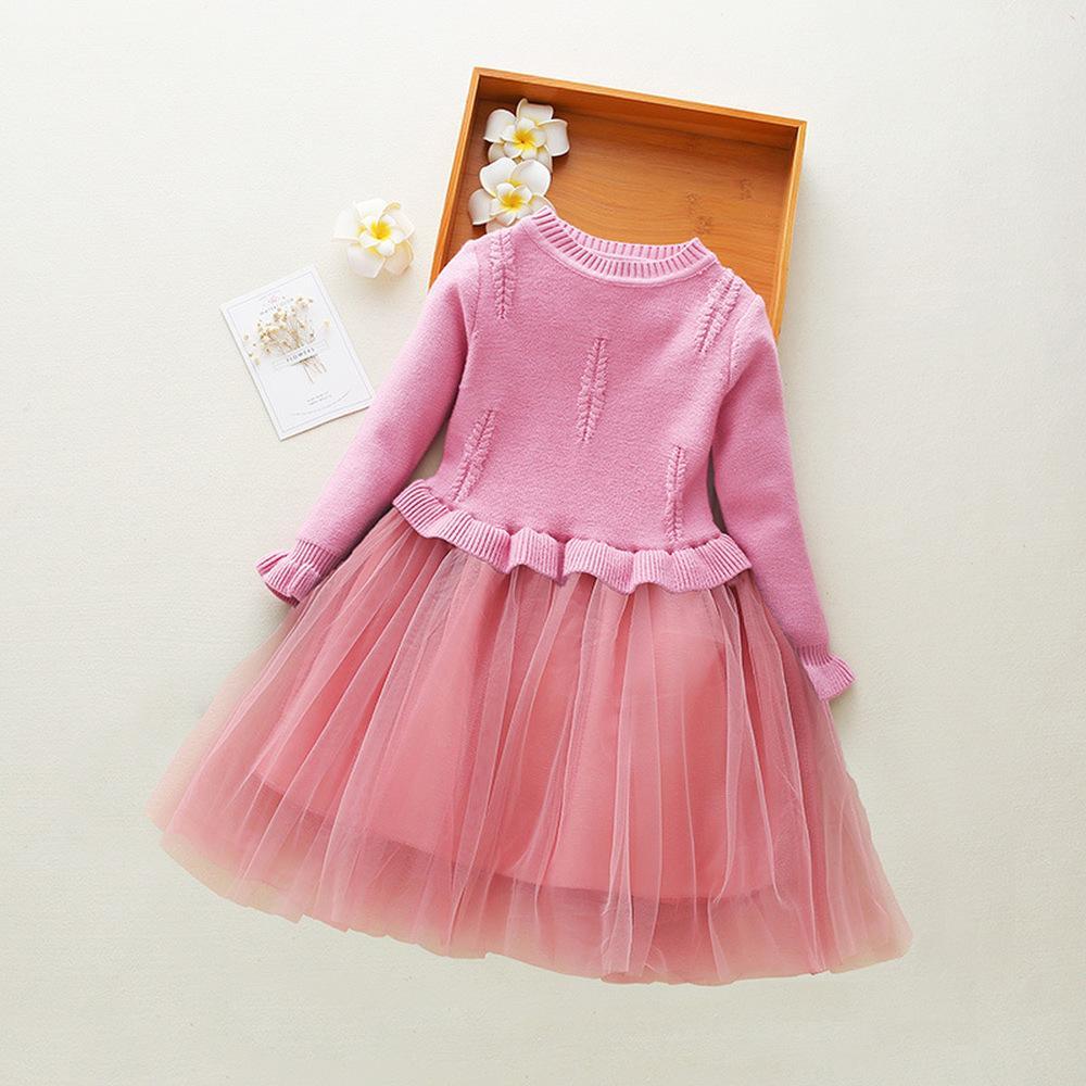 252e69588bc237 Großhandel Mädchen Strickpullover Kleid Kinder Prinzessin Party Kleid  Mädchen Langarm Kleider Vestidos Mädchen Pullover Kleidung Für 2 11Year  CA384 Von ...