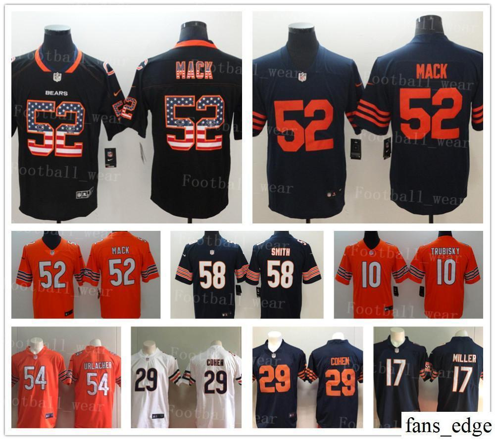 db22d44606250 2019 Chicago Jersey 10 Mitchell Trubisky 58 Roquan Smith 52 Khalil Mack 34  Walter Payton Bears 54 Brian Urlacher 12 ALLEN ROBINSON Football From  Fans_edge, ...