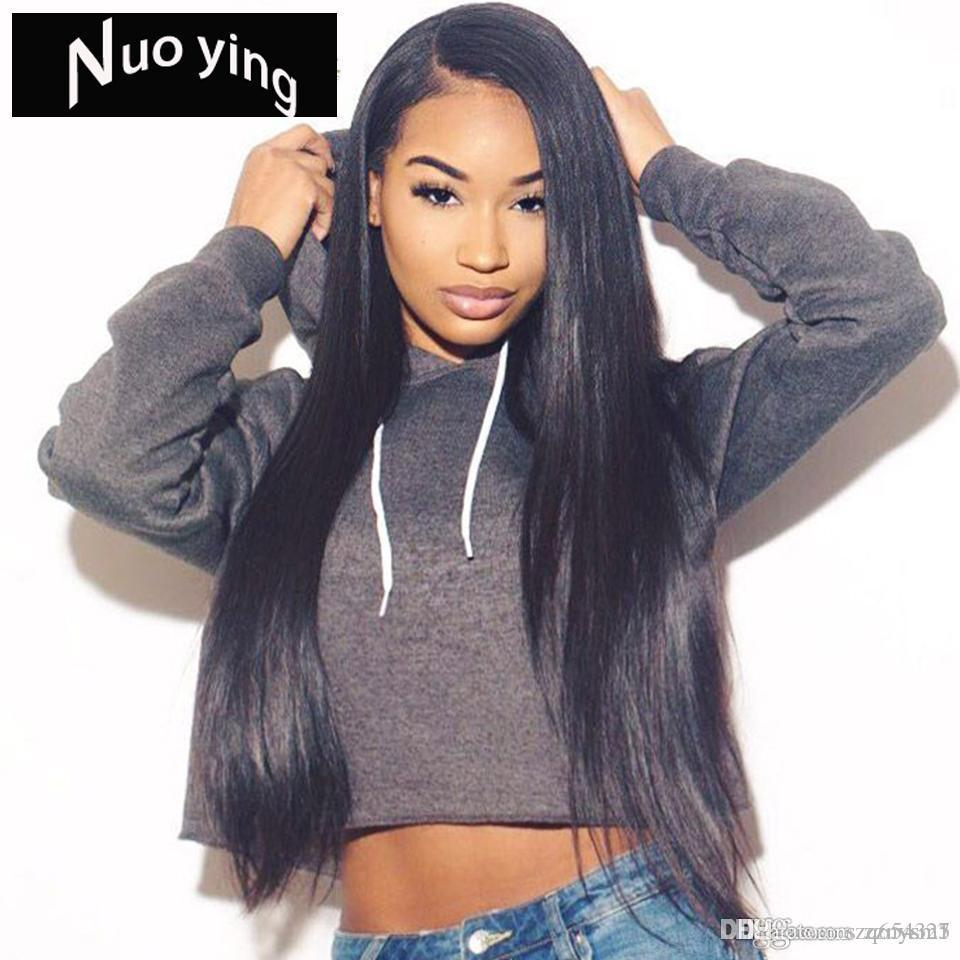 360 Lace Frontal Wig Pre Plucked With Baby Hair Remy 360 Lace Frontal Human Hair Wig Brazilian Straight Hair Bob Wig