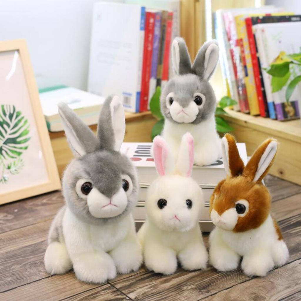 2019 Realistic Plush Stuffed Animal Bunny Soft Toy For Baby Toddler
