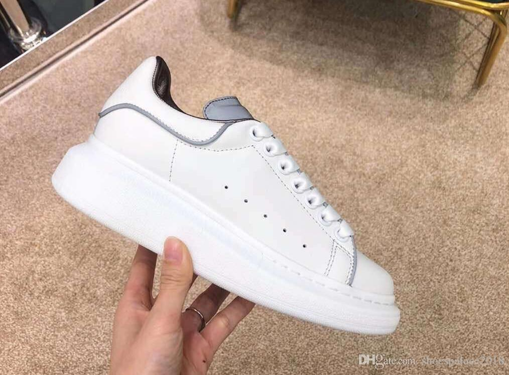25ec1a9fa1a 2019 Designers Comfort Casual Dress Shoe Luminous Reflective 3M White Casual  Shoes Platform Sneaker Party Womens Hiking Walking Trainers Loafers Mens  Boots ...