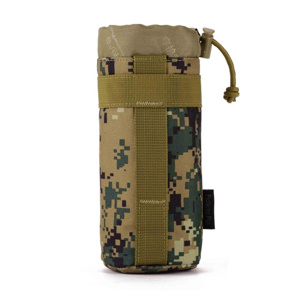 Protector Plus Tactical Water Bottle Pouch Molle System Kettle Bag for Camping Hiking Travel Water Bottle Holder