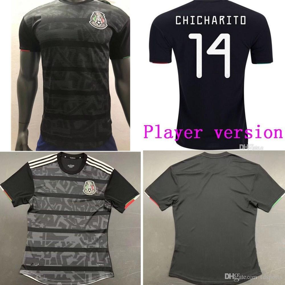 81e716668 2019 Player Version 2019 Mexico Soccer Jersey National Gold Cup Home Black  19 20 CHICHARITO LOZANO GUARDADO CARLOS VELA RAUL Football Shirts From  Tdsports