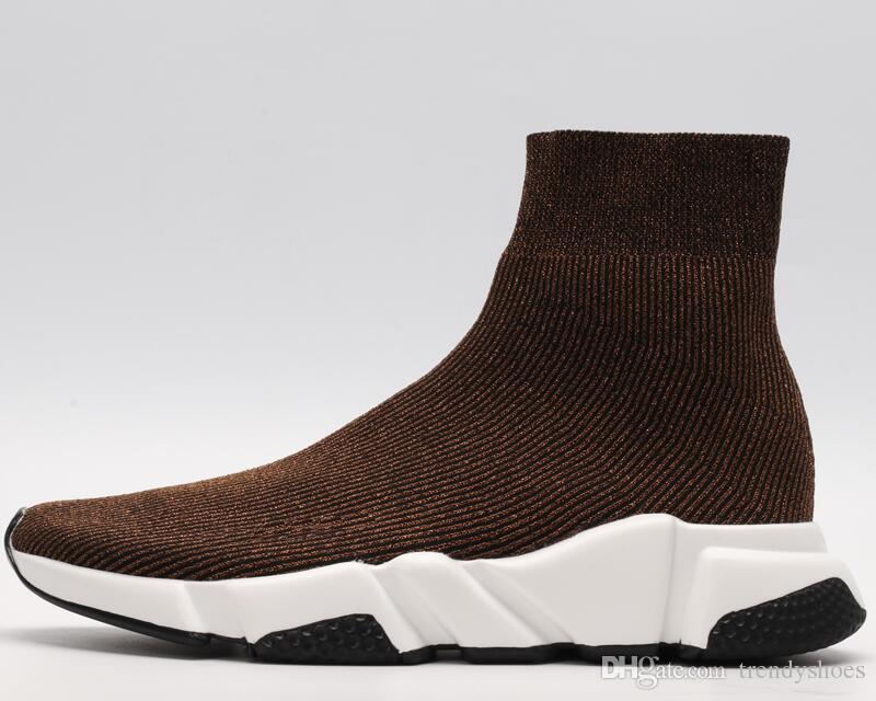 9dc0eb36960 Compre 2019 Botas Blancas Negras Calcetines Entrenador De Velocidad  Zapatillas De Mujer Para Hombre Botas Casuales Zapatillas De Deporte De Alta  Calidad Con ...