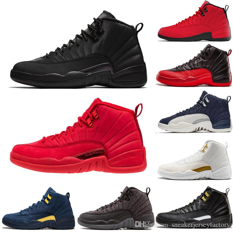 7e8cfda09208f4 2019 New 12s WNTR Winterized Gym Red Mens Basketball Shoes XII JUMPMAN 12  Bulls Taxi Gamma Blue The Master White Black Sports Sneakers Trainers From  ...