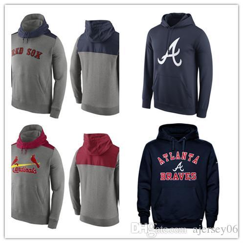 online store d361d 03b75 2018 Men's New Sweater Chicago Cubs StLouis Cardinals Atlanta Braves Boston  Red Sox Pullover Hoodie Outdoor Sportswear Sweatshirts