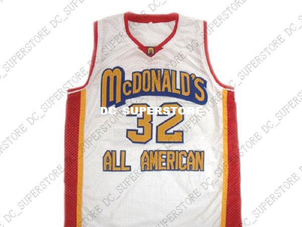 premium selection 07f9e 0531c wholesale Lebron James 32 McDonald s All American Basketball Jersey White  Stitched Custom any number name MEN WOMEN YOUTH BASKETBALL JERSEYS