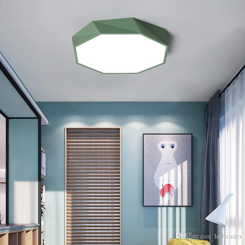 2019 Creative Geometric Modern Art Led Ceiling Lights For Sitting Room  Living Room Lamp Study Corridor Balcony Ceiling Lamp Remote Control I112  From ...