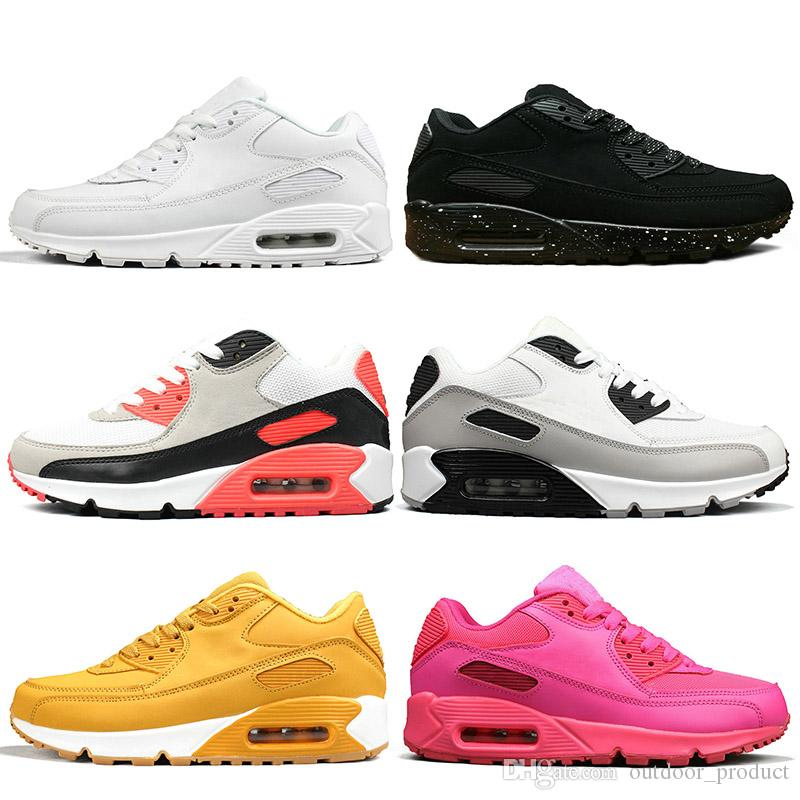 cheap for discount 7bdcf 6ea96 Großhandel Nike Air Max 90 Airmax Der 90er Jahre Schuhe Herren Sneaker  Deisgner Sneakers Damen Laufschuh Pink Oreo Classic Triple Weiß Schwarz  Jogging ...
