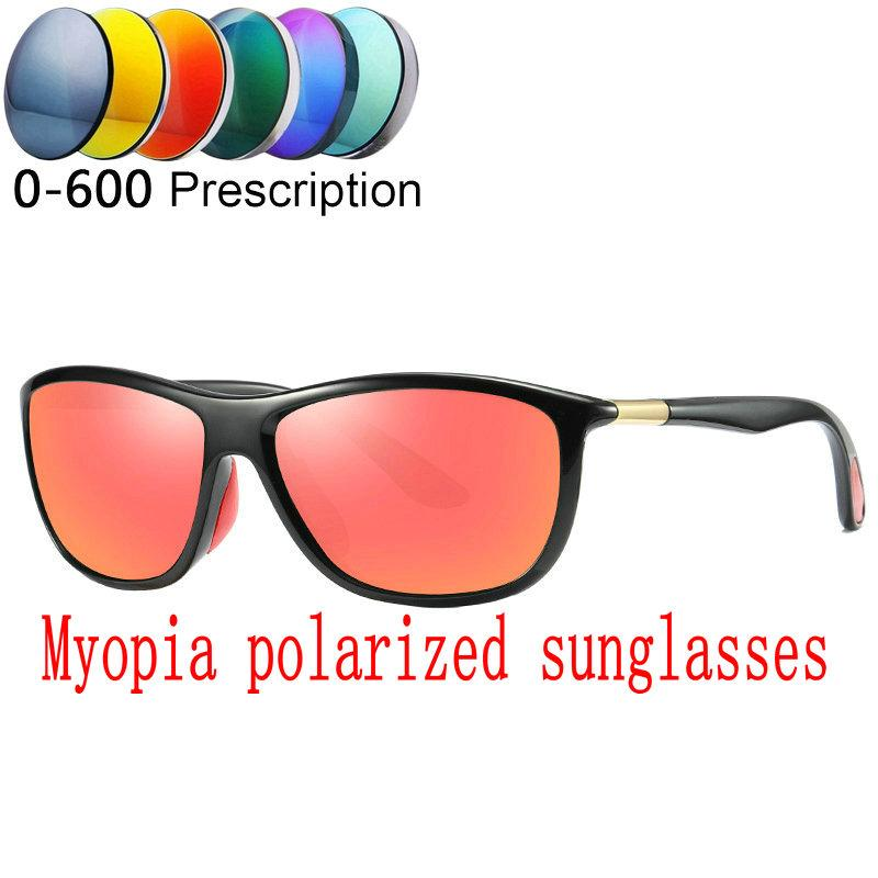 11cec509a6 2019 Custom Made Myopia Minus Prescription Polarized Lens Sunglasses ...