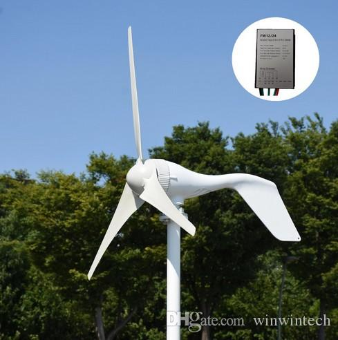 Fast shipping Max 500W 12V/24V Environmental 5 Blades Mini Wind Turbines  Energy Generator Miniature Wind Turbines Home With Controller