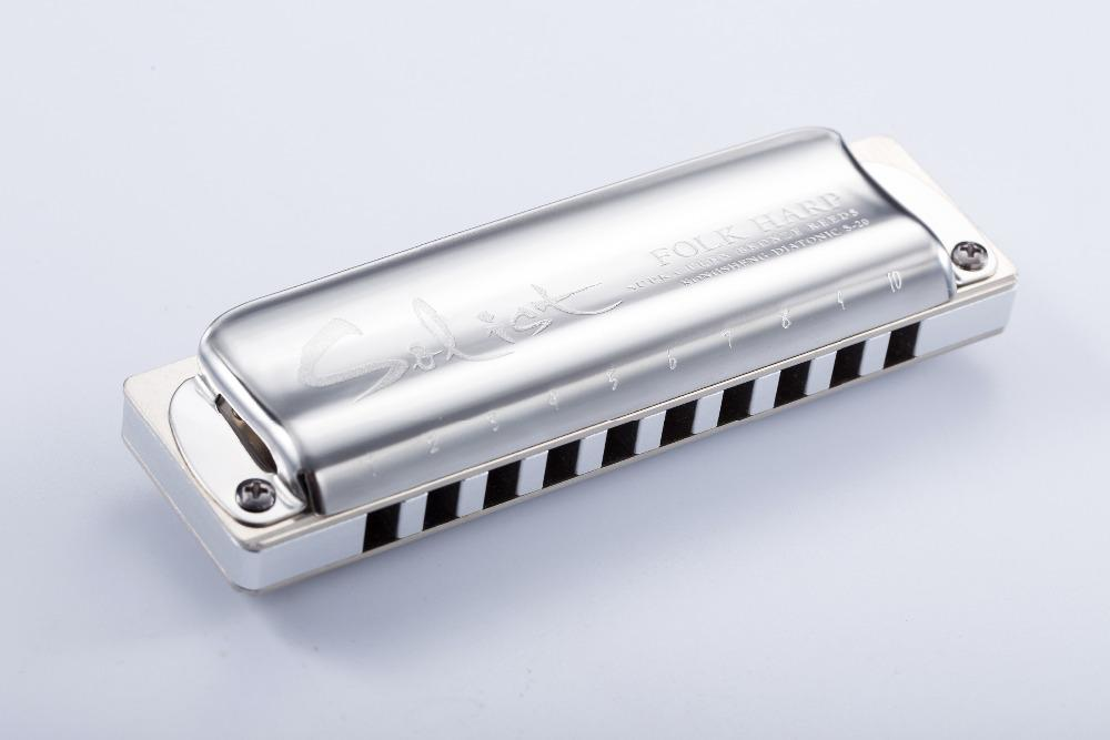 KONGSHENG Solist halk arp yüksek kalite 10 delik diatonik mızıka anahtarı C / Db / D / Eb / E / F / F # / G / Ab / A / Bb / B / Düşük F / Yüksek G