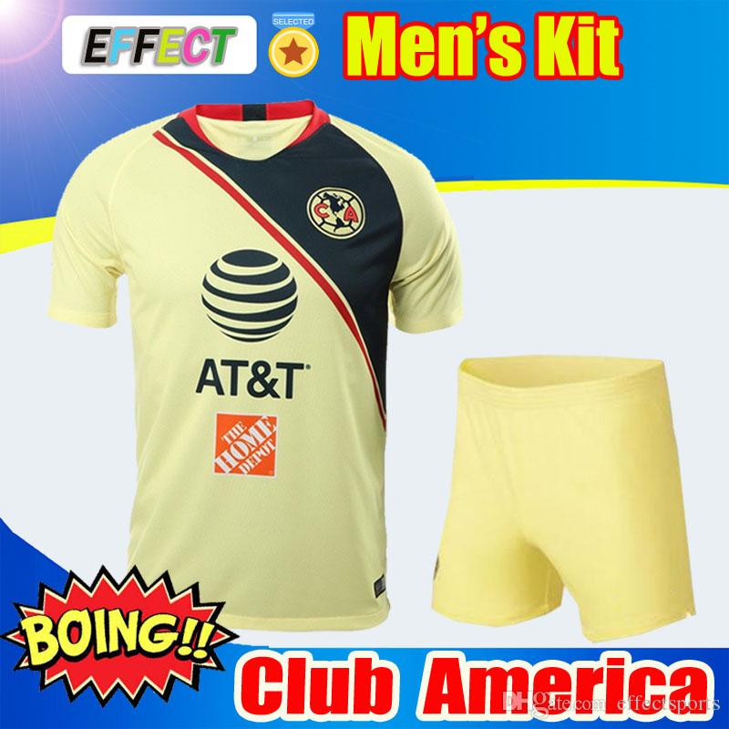 82b25b708ed 2019 LIGA MX Club America Soccer Jersey MEN KITS O.PERALTA 18/19 Mexico's  Chivas Tigres UNAM Goalkeeper Home Football Shirt Adult Sets