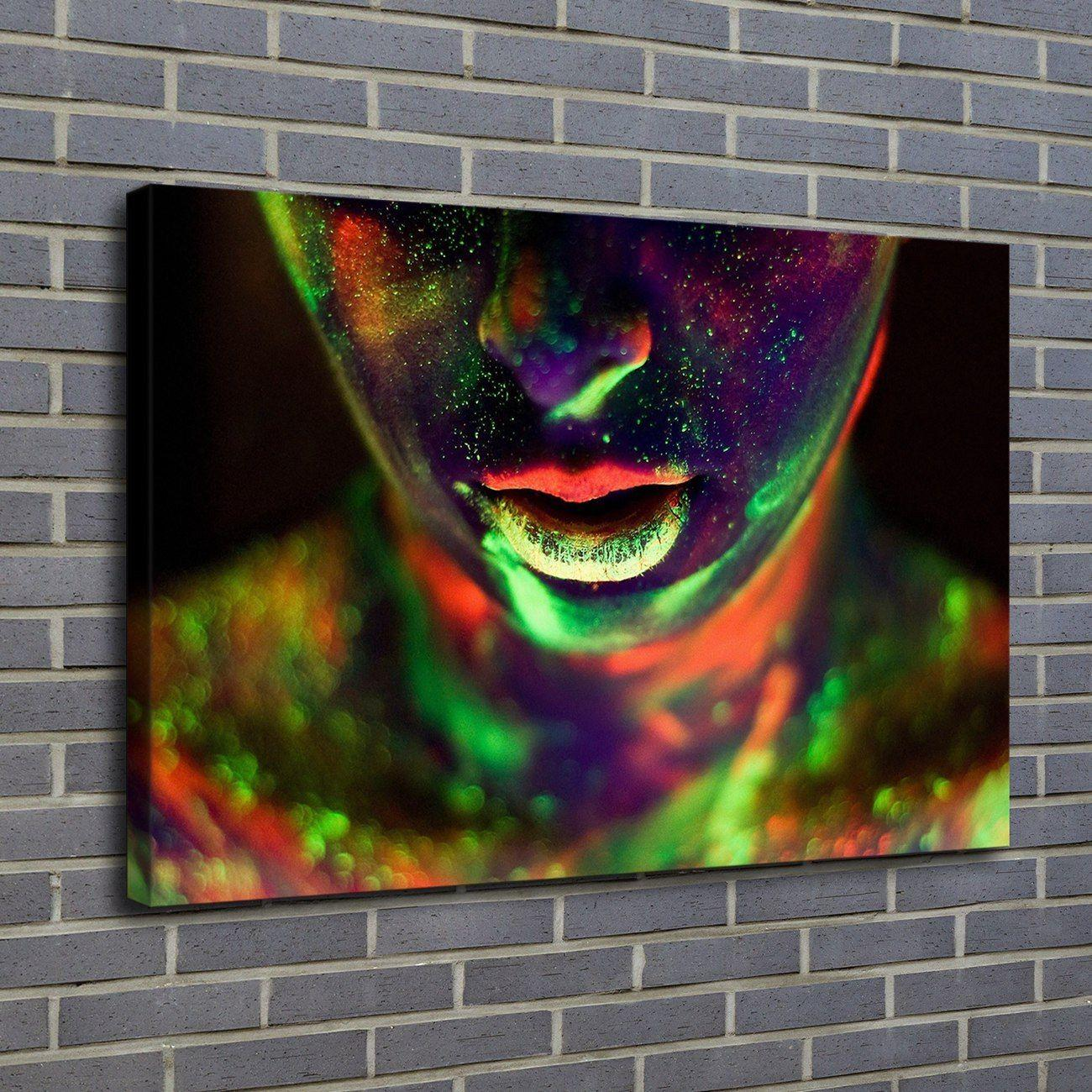 1 Pieces Home Decor HD Printed Modern Art Painting on Canvas Body Paint Face Poster (Unframed/Framed)
