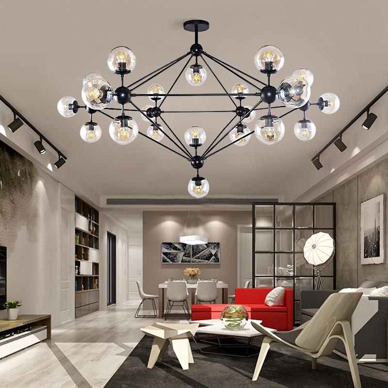 Moderne LED Deckenleuchter Beleuchtung Wohnzimmer Schlafzimmer Glasschirm  Globe Lampe Kronleuchter Kreative Leuchten für Zuhause