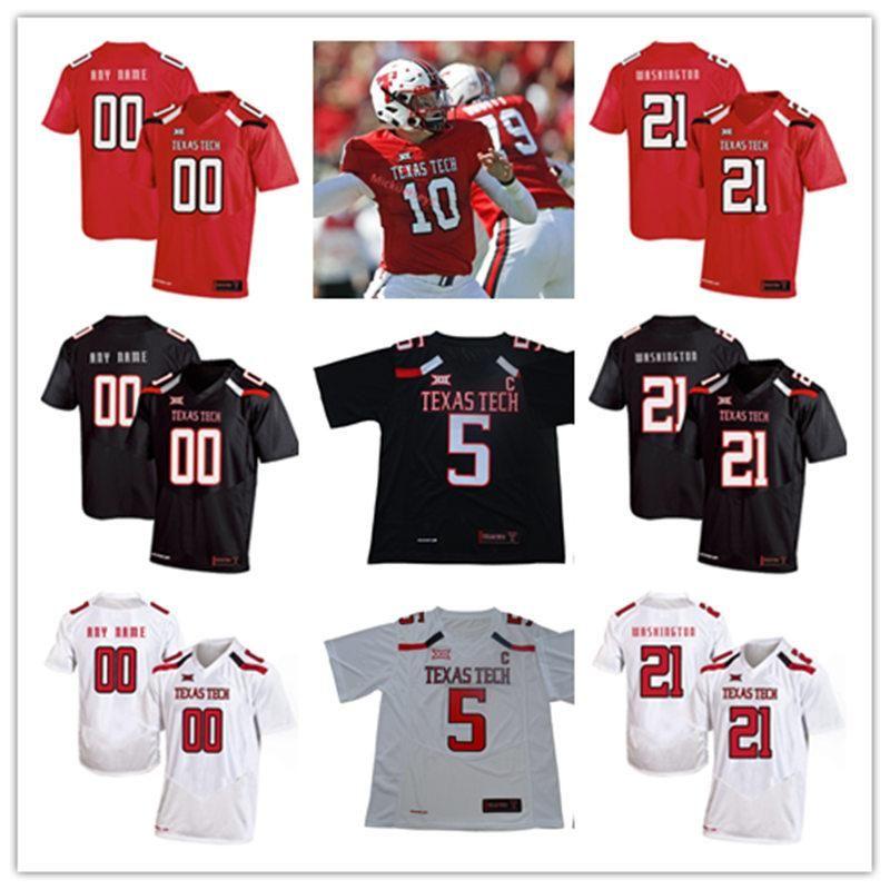 official photos 2e719 ad9f7 Custom NCAA Texas Tech Red Raiders College Football Jersey ZACH THOMAS WES  WELKER DEANDRE WASHINGTON MICHAEL CRABTREE JACE AMARO TTU Jersey