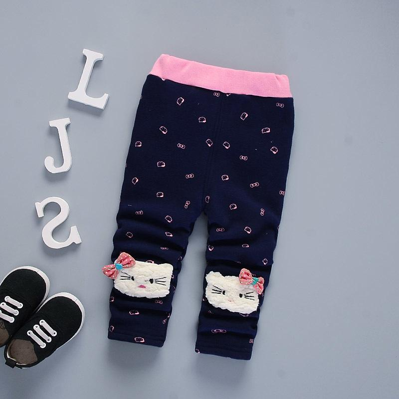 good quality New Winter Girls Pants Thick Warm Children Leggings Kids Boy Cotton Pants Autumn Baby Girls Christmas Pants Clothing