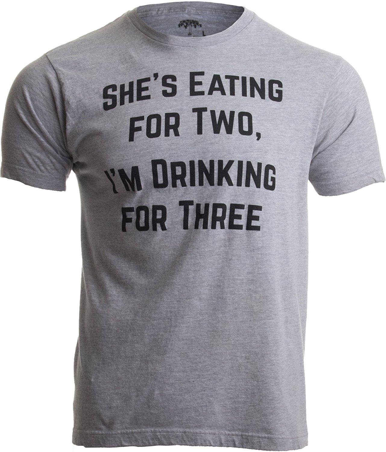 e45b5ac7 Drinking For Three | Funny New Dad Father Pregnancy Announcement Joke T  Shirt Long Sleeve T Shirts Vintage T Shirts From Ladyhill, $24.2| DHgate.Com