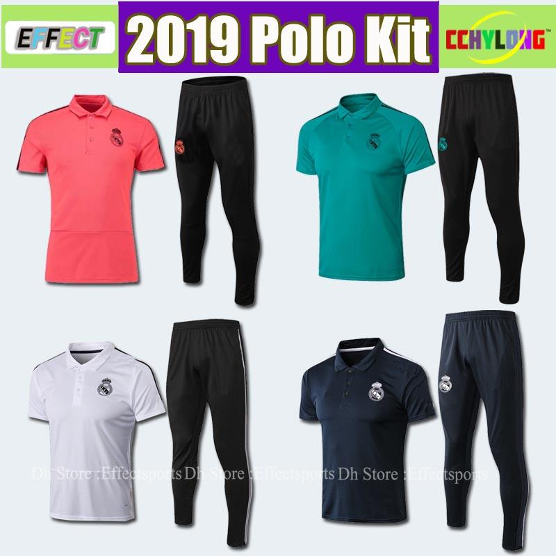 outlet store sale f373c 11e3e 2019 Real Madrid Polo Kit Shirts Red Soccer Jersey 18 19 Real Madrid Soccer  Polo Football Uniforms Red Sport Camisa de Futebol Shirt