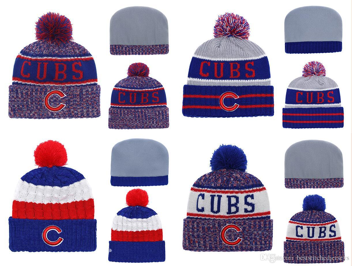 3a8a180c2406e5 2019 Hot Sale Chicago Cubs Beanies DHL Shipping Bryant Rizzo Best Quality  Stitched Knit Hats All Teams Can Mixed Winter Knitted Caps From ...