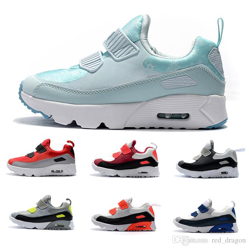 Nike air max 90 Zapatillas de deporte para niños Presto 90 II Niños Deportes Ortopédicos Jóvenes Entrenadores para niños Infant Girls Boys Zapatos al