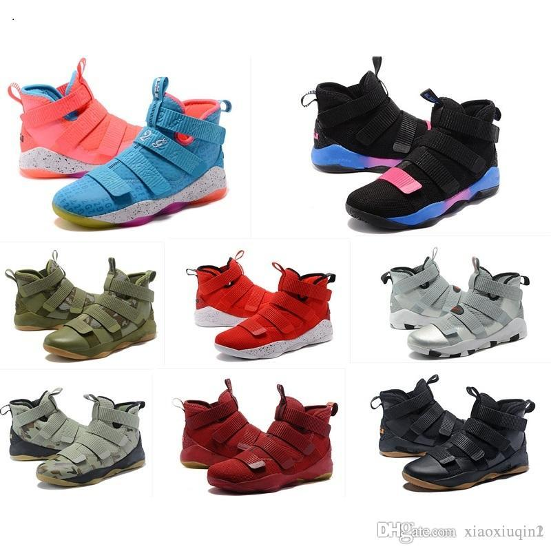 on sale dfd6b b1902 What the Lebron soldier 11 XI shoes mens basketball for sale lebrons  Christmas BHM Oreo youth kids boys sneakers boots with original box