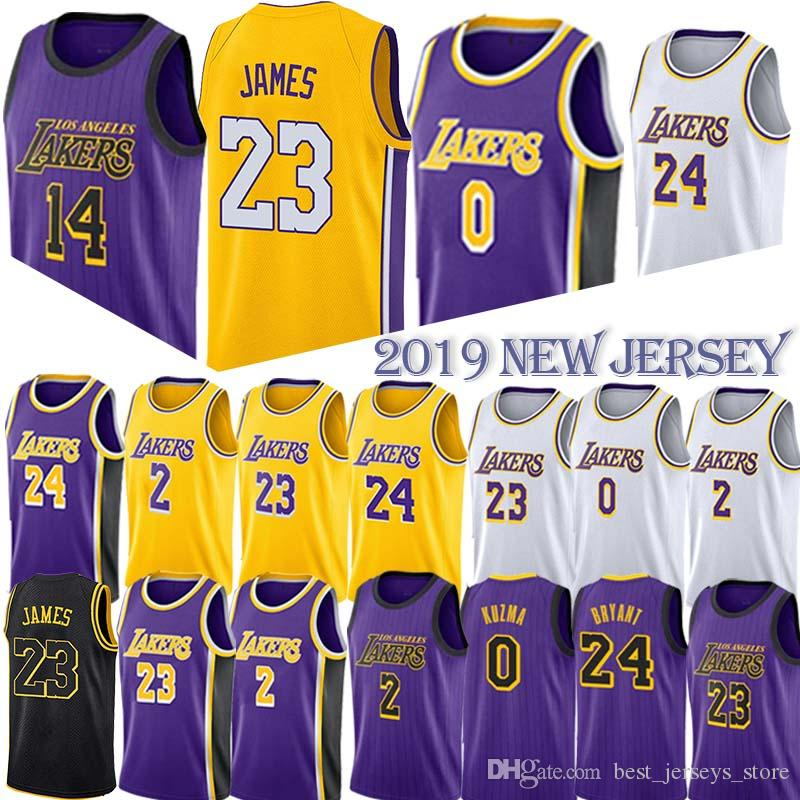 b124d703fe9 2019 Basketball Jerseys 23 LeBron James Los Angeles Jersey Laker Lonzo 2  Ball Kyle 0 Kuzma 24 Kobe 14 Ingram 8 Bryant Men From Best_jerseys_store,  ...