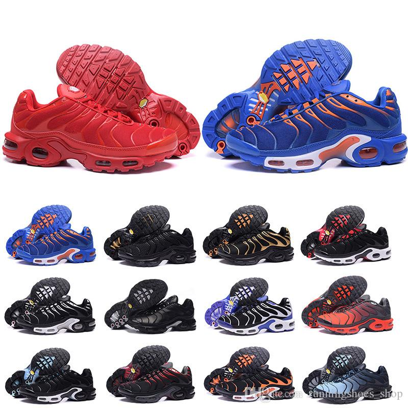 2019 New Chaussure TN Plus Running Shoes For Men Outdoor Triple Black White  Mens Trainers Hiking Sports Athletic Sneakers US 7-12