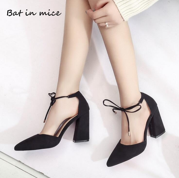 bff482374670 Dress Shoes Women Pumps Comfortable Thick Heels New Brand Woman Classics Gladiator  Pumps High Heels Ankle Lace Up Heeled Wedding W053 Loafer Shoes Shoes Uk ...