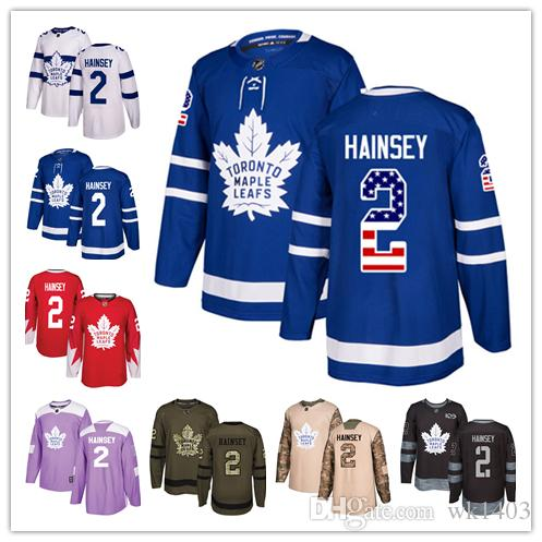 0a58c942 2019 Toronto Maple Leafs Jerseys #2 Ron Hainsey Jersey Ice Hockey Men Women  Blue White Red Authentic Winter Classic Stiched Gears Jersey From Wk1403,  ...