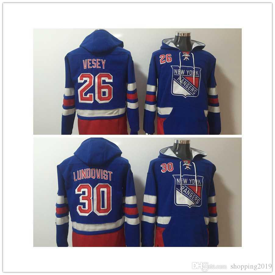 2017 Mens New York Rangers Hockey Sweaters 26 Vesey 30 Lundqvist ... 29c51b720