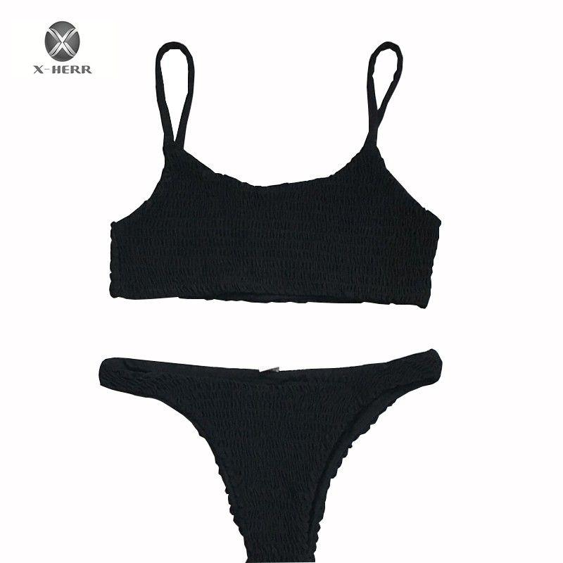 98d9dc078b7a 2018 Traje de baño Bandeau Traje de baño para mujer Push Up Vendaje Traje  de baño Brizilian Bikini Set Maillot De Bain Femme