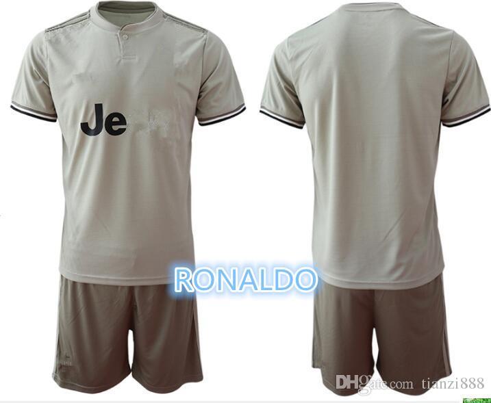 lowest price 8be53 3482c 1819 Men soccer Jersey away Kit 18 19 #7 RONALDO away Soccer Jerseys 2019  #10 DYBALA Soccer Shirts uniform jersey+shorts