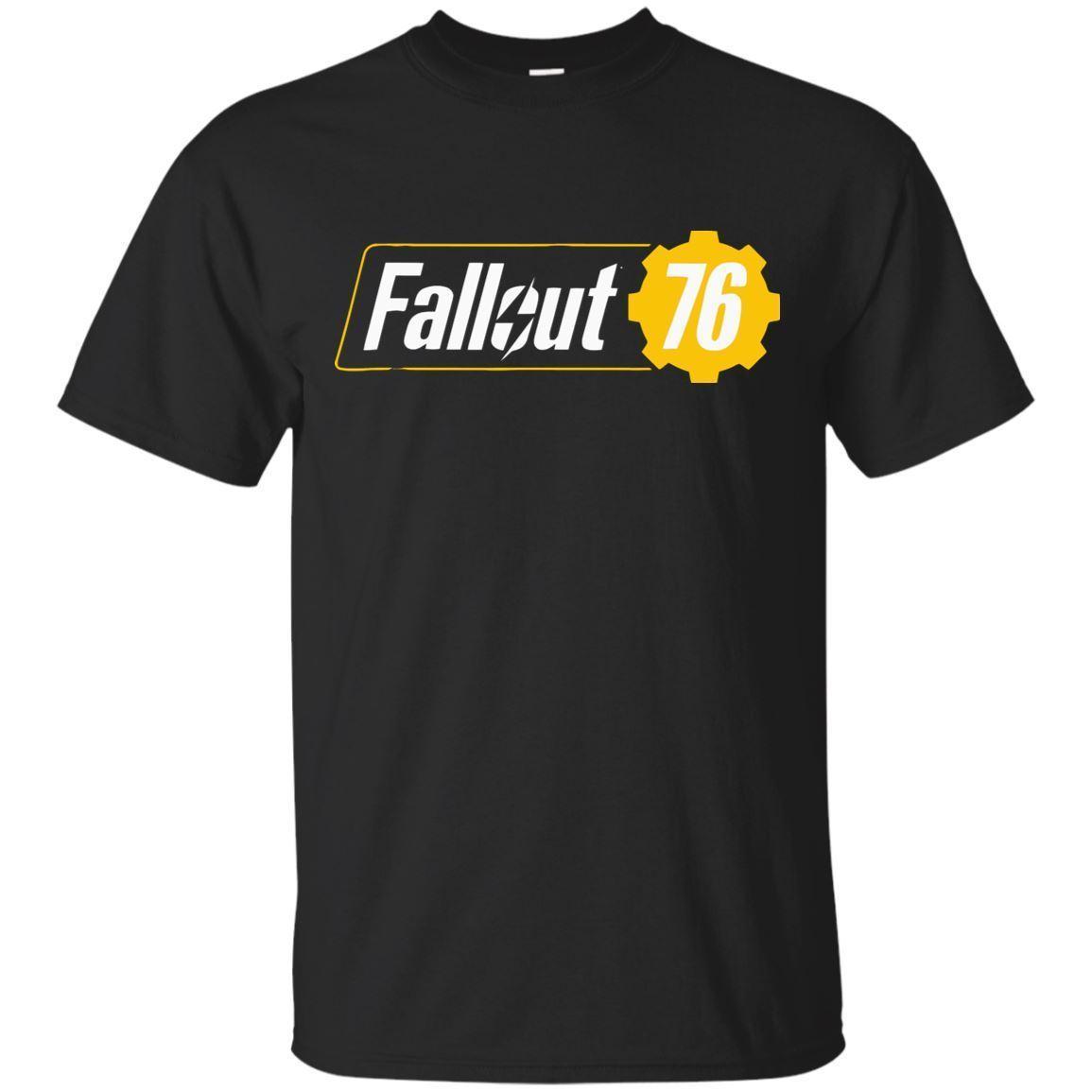 4ae0e5e2bd4 Fall Out 76 Graphic Logo T Shirt For Men Women Black T Shirt Size S 5XL Men  Women Unisex Fashion Tshirt Funny T Shirts For Women Funny Shirt From ...