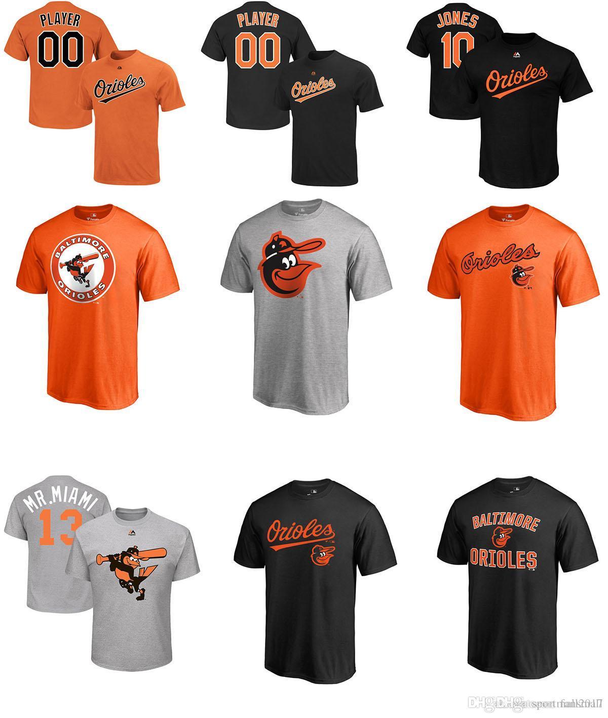 f1077999b 2017 MLB BALTIMORE ORIOLES T Shirt 13 Manny Machado 10 Adam Jones 16 Trey  Mancini 19 Chris Davis 100% Cotton Tee Mens Shirts Shirts For Men From  Fansmall