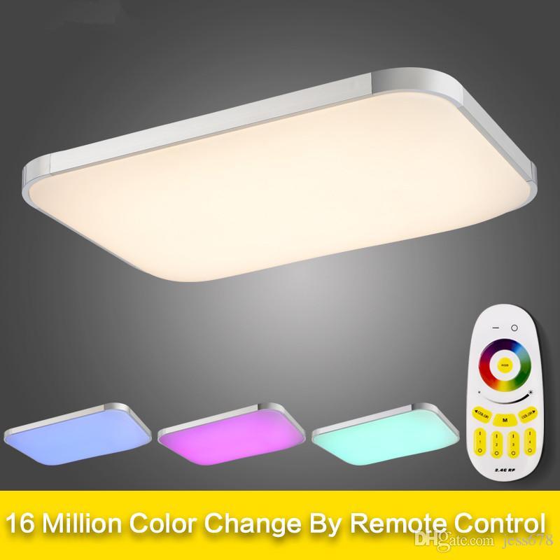 Led Couleur Luminaires Rgb Changement Lampe Lustre Plafonniers Luminaria Télécommande Plafonnier Jess Et Dimmable De Avec 345RjAL