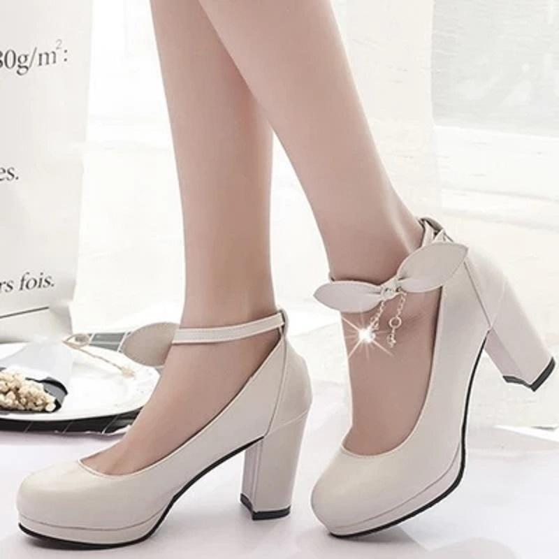 34aa310fca Designer Dress Shoes 2019 New Mary Jane Ladies High Heels Wedding White  Platform Lady Blue Pink Beige. Stacy Adams Shoes Purple Shoes From Ru55, ...