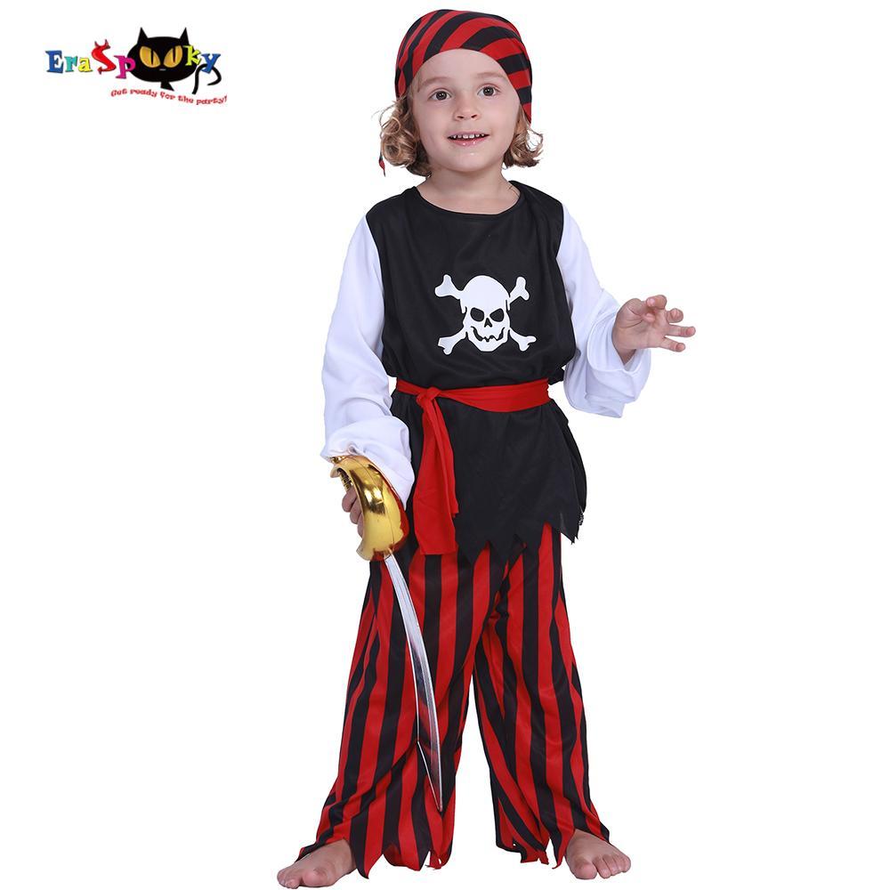 c8312e1f9054 raspooky Kids Carnival Costumes Cute Pirate Boys Jack Sparrow Cosplay  Children Costume Skull Caribbean Fancy Dress For Party Eraspooky Ki...