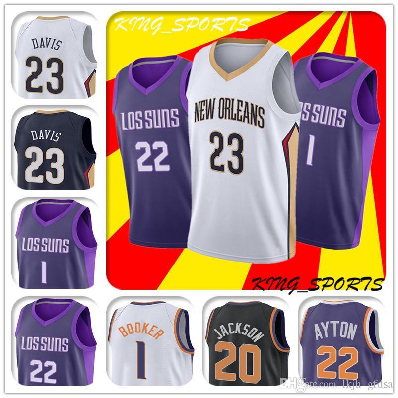 8e525cccc01 23 Anthony Davis Jersey Phoenix Jerseys Suns Jersey Denver Booker ...