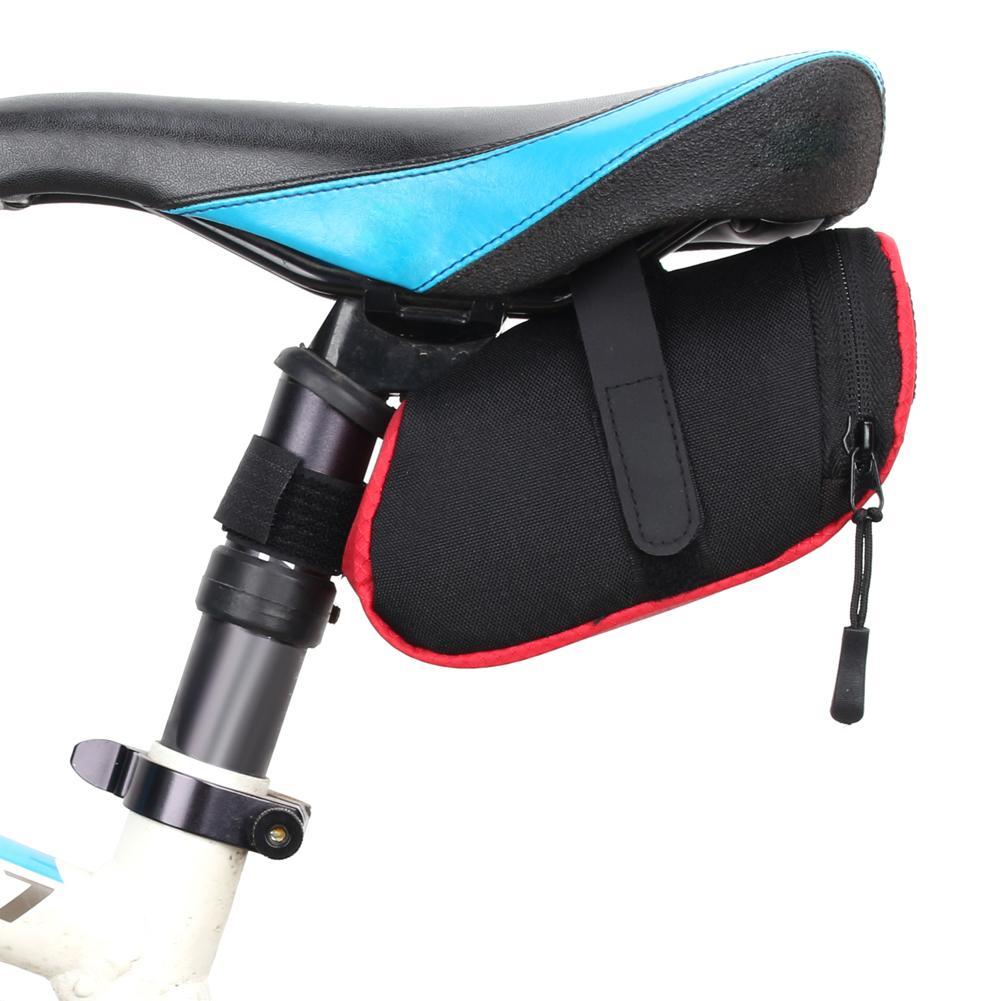 3colors Mini Bike Storage Saddle Bag Bicycle Mtb Seat Tail Rear Pouch 600d  Nylon Waterproof Ultra-light Cycling Saddle Bags
