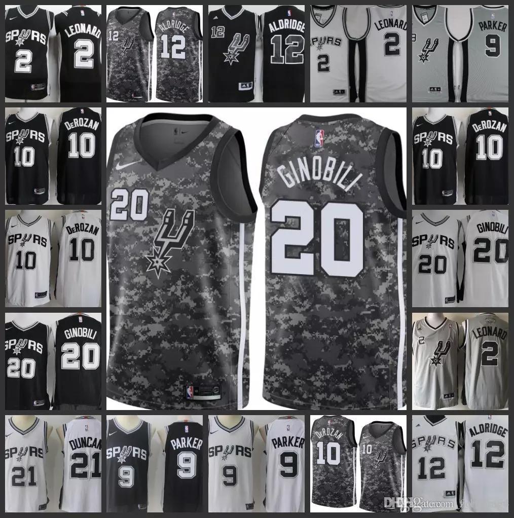 17dfa5c7e 2018 NCAA San Antonio Spurs Men Jersey  10 Demar DeRozan 2 Kawhi ...