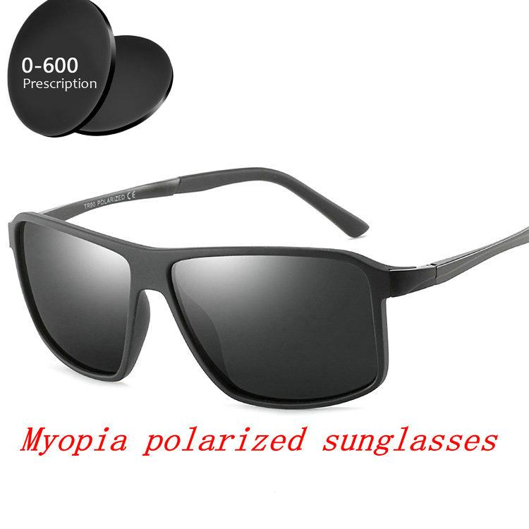 f72f0f01ebc 2019 Myopia Optical Men s Polarized Sunglasses -1.0- To-6.0 Square ...