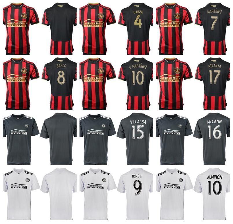 promo code dfe45 f374d 2019 Atlanta United FC Men Red Home White Soccer Jersey Miguel Almiron Josef  Martinez Ezequiel Barco Hector Villalba Football Shirt Kit Uniform From ...