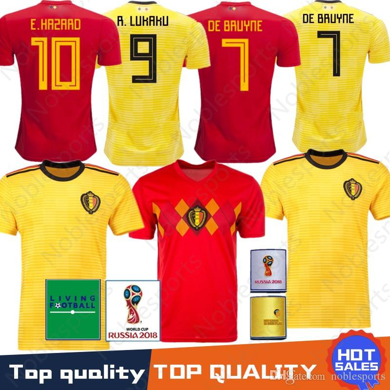3b8749b5b31 2019 2018 2019 World Cup Soccer Jersey 2018 Home Away LUKAKU E.HAZARD  KOMPANY DE BRUYNE 18 19 Belgium Football Shirt WOMEN Man From Topsmovement