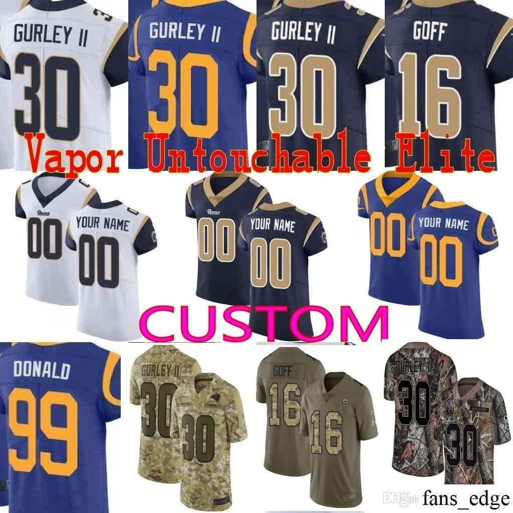 2019 Custom Men Youth Women Rams Todd Gurley II Aaron Donald Jared Goff 22  Marcus Peters Eric Kupp Camo Los Angeles Jersey From Fans edge 2aca86047