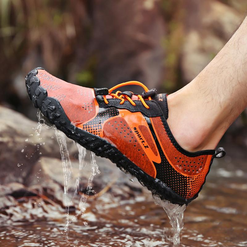 84de4e6d04e Aqua Shoes For Men Women Summer Swimming Water Shoes Drain Hole Sole Rubber  Non Slip On Surf Breathable Beach Male Wading Shoes Platform Shoes Hiking  Shoes ...