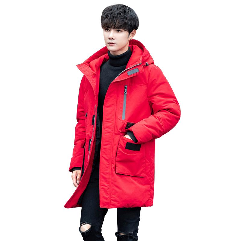9951a960093 2019 New Hooded Long Winter Duck Down Parkas Men Casual Clothing Outwear Down  Jackets Male Thick Coat Fashion Puffer Jacket From Carawayo, $163.76 |  DHgate.