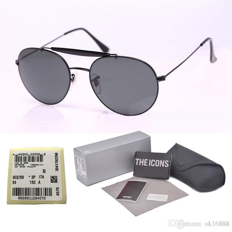 1ad52c3bef4 Top Quality Glass Lens Classic Brand Designer Sunglasses Men Women Round  Metal Frame Sport Vintage Sun Glasses With Original Cases And Label Locs  Sunglasses ...
