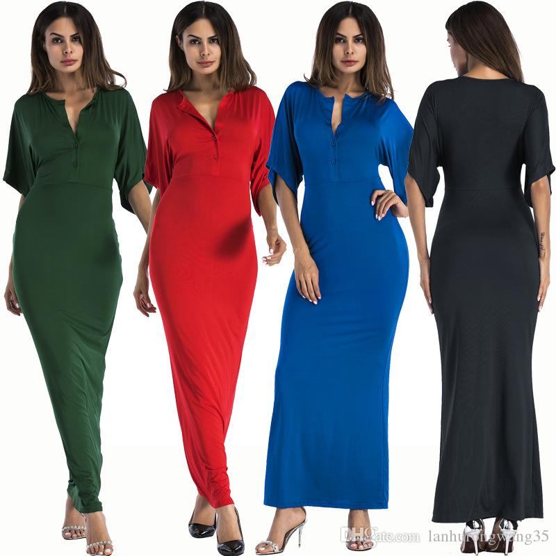 Plus Size Women Clothing 2019 Short Sleeve Large Size Sexy Party Long Style Maxi Dress Elegant Bodycon Vestidos De Fiesta Robes YD5061